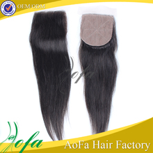3 part virgin raw indian hair 4x4 silk base lace closures