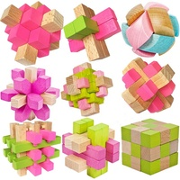 Intelligence Magic Cube Puzzle Luban Lock Brain Teaser Puzzle Educational Wooden Brain Teaser Puzzle