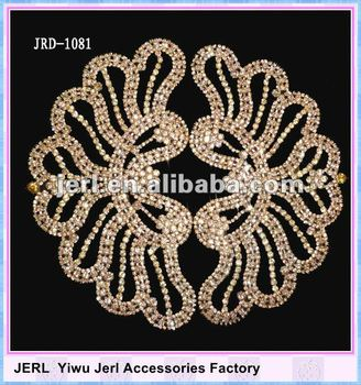 Fashion Accessories Rhinestone lace trims for wedding dress