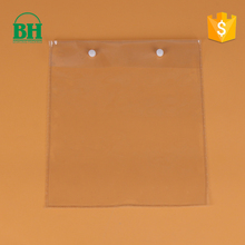 clear pvc plastic shopping packing bag with button closure