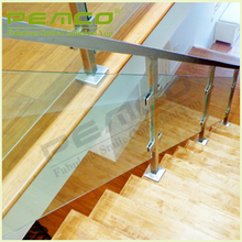 China wholesale outdoor metal Glass Balcony Railing stainless steel handrail for stairs