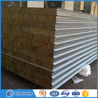 Good corrosion resistance 200mm rockwool sandwich panel for Building partition wall