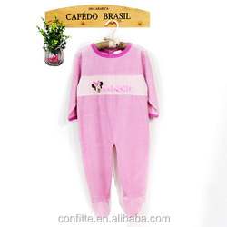 2016 New Arrival Baby Jumpsuit Autumn Velvet Baby Romper Cute Animal Print Footed Baby Romper