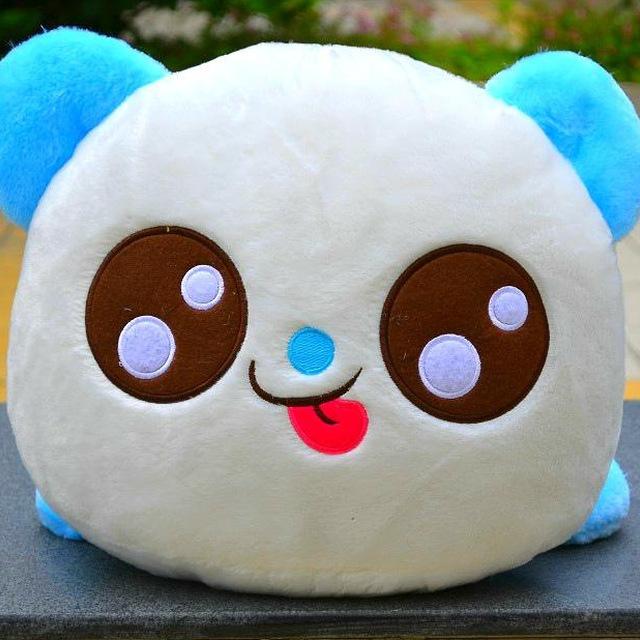 new colorful big eye papa panda plushtoy for female creatures toy stuffed animals