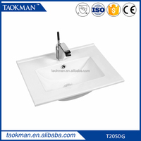 T2050G Ceramic cabinet wash hand basin with CE cheap bathroom sink
