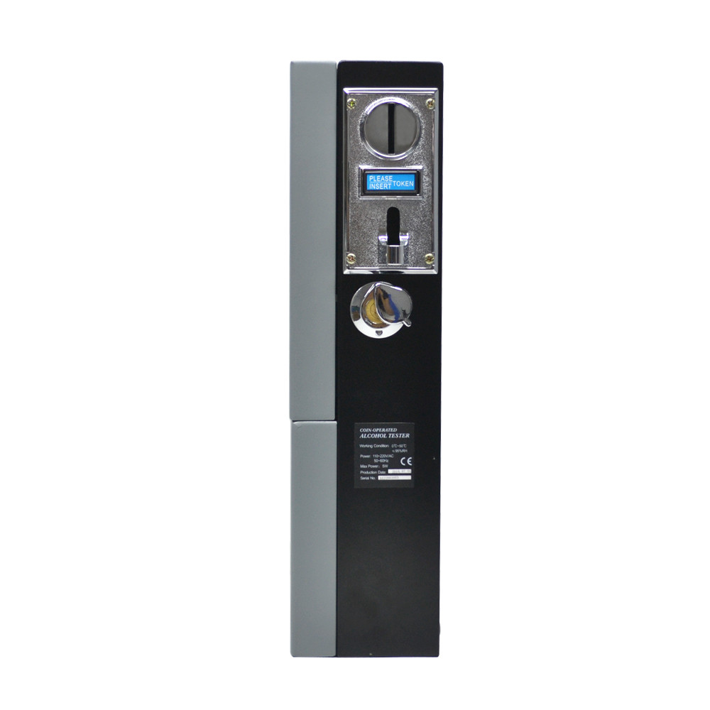 AT319 Public Coin Operated Alcohol Tester Alert Over Alcohol Driving Safe Driving Coin-operated Vending