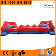 big baller interactive inflatable game,interactive games outdoor inflatable big baller wipeout game