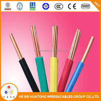 Electric 12 gauge pvc coated electric wire sizes