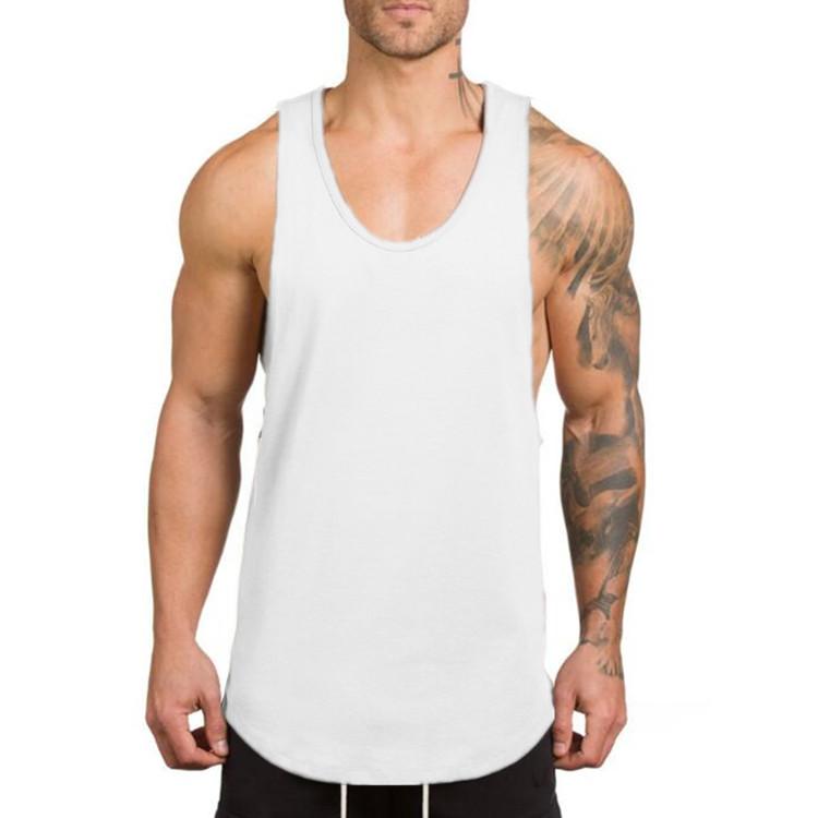 OEM men Summer Cotton Male Tank top gym Clothing  Bodybuilding gym tank top