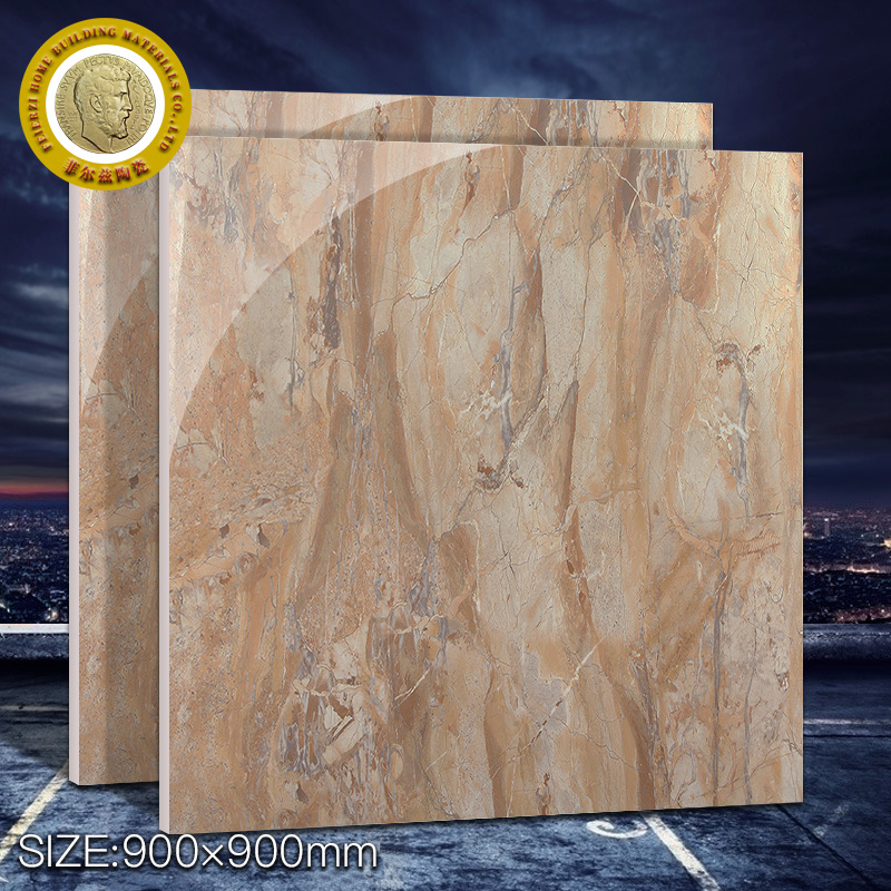 Clear hard coating glazed metallic tiles marble stone ceramic floor tile 900*900mm