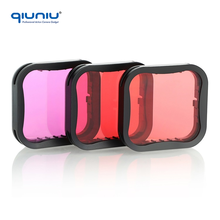 QIUNIU For Go Pro 3 Pack Red Light Red Magenta Filter Diving Lens for GoPro Hero 6 / Hero 5 Super Suit Dive Housing