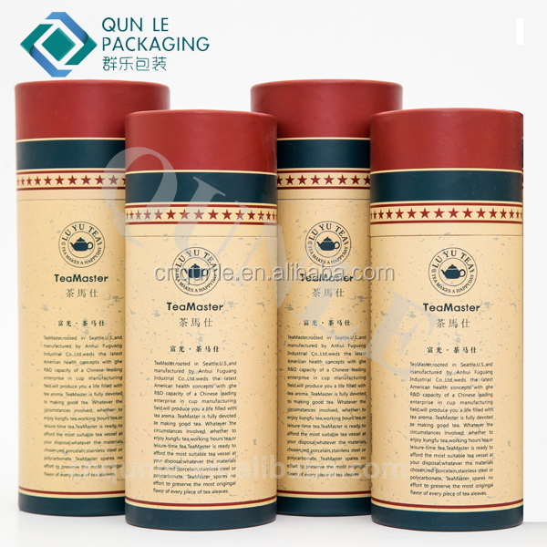 High grade paper tube box Kraft paper can Round tea tin Wholesale