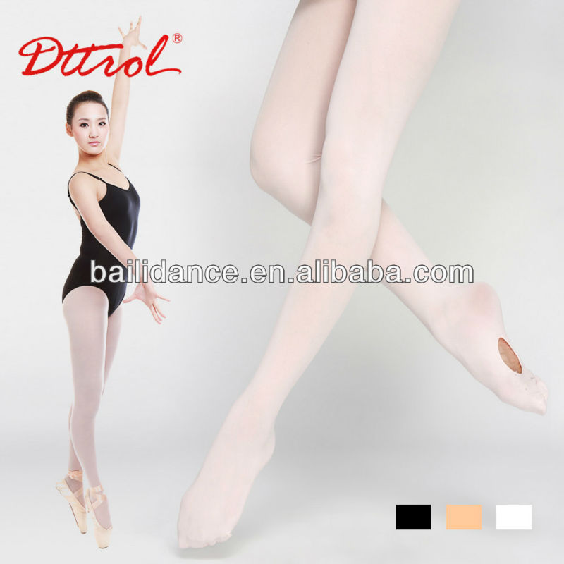 D006073 Dttrol convertible ballet dance tube pantyhose tights girls
