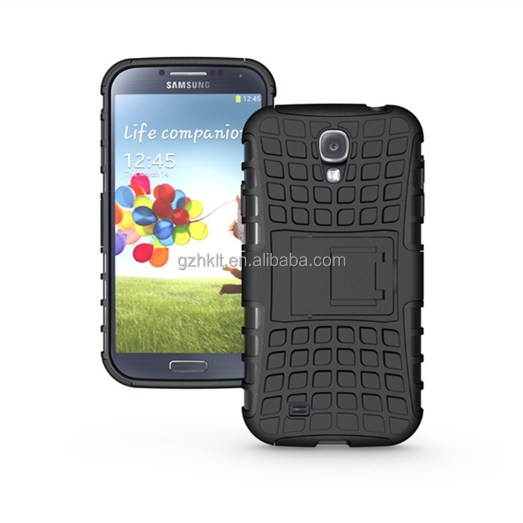 Dual layer heavy duty protective phone case for Samsung for GALAXY S4 case tpu+pc