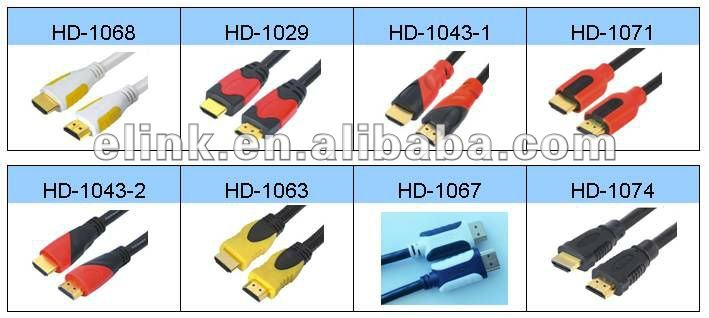 Standard version hdmi cable 1080P with gold connector