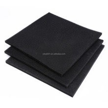 Black Reusable Aquarium Fish Tank Black Filter Biochemical Cotton Filter Foam pads 50x50cm 2cm