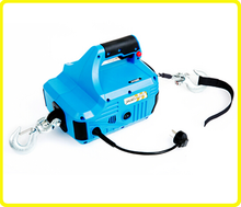 Household manual winch lifting , 1000lb portable electric cable hoists , AC 110v home hoist and winch