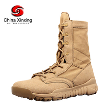 Xinxing Army desert boots military Leather Canvas Sand Boots with Zipper Military boots