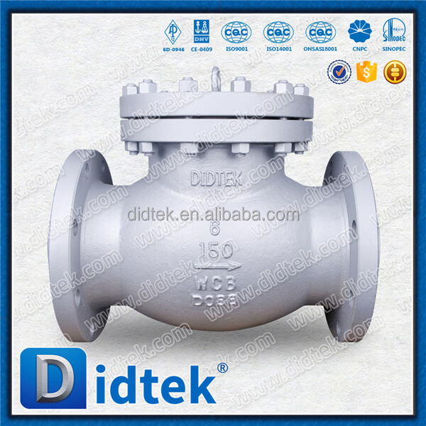 "DIDTEK High Quality Flanged Ending 4"" Lifting Check Valve For Acid"