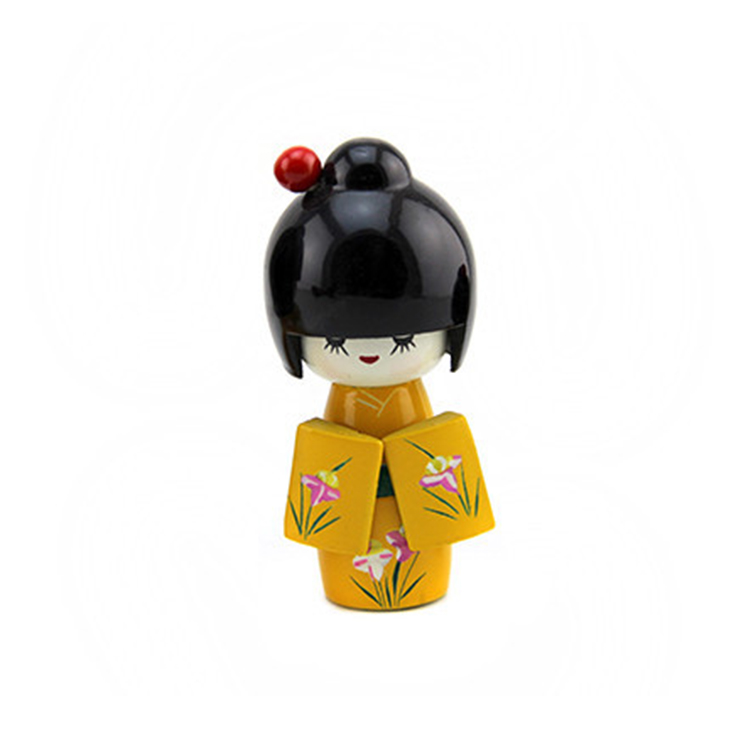 FQ brand wholesale cheap festival dolls craft traditional wooden mini kokeshi doll