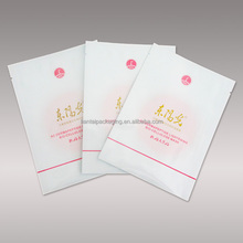 Custom logo printed plastic bag stand up face mask packaging for skin care