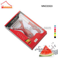 Promotional ceramic knife set mini with color window box
