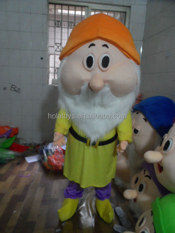 Hola Seven dwarf mascot costume/halloween costume for sale