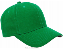 6 panel good quality structured blank green cheap acrylic polyester promotional baseball <strong>hat</strong>