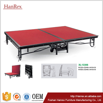 Hotel Foldable Mobile Stage For Sale