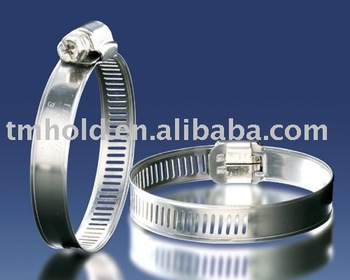 Stainless Steel American type worm gear hose clamp