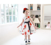 Wholesale 2016 European Style Baby Girl Summer Dress Children's Boutique Clothing for Lovely Girls