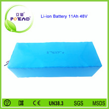 e-bike rechargeable lithium ion battery pack 48v 11ah