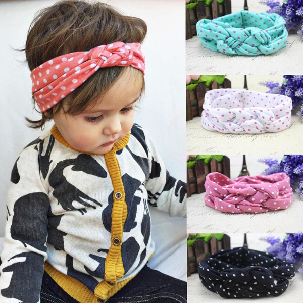 PHB20321 hot sale dots design baby wholesale girls hair bows