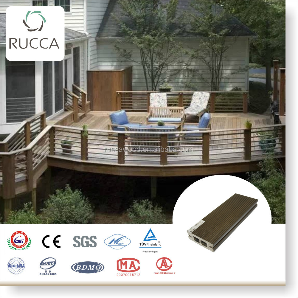 2016 Foshan Factory direct wpc co extruded composite products fencing decking with china wood supplier