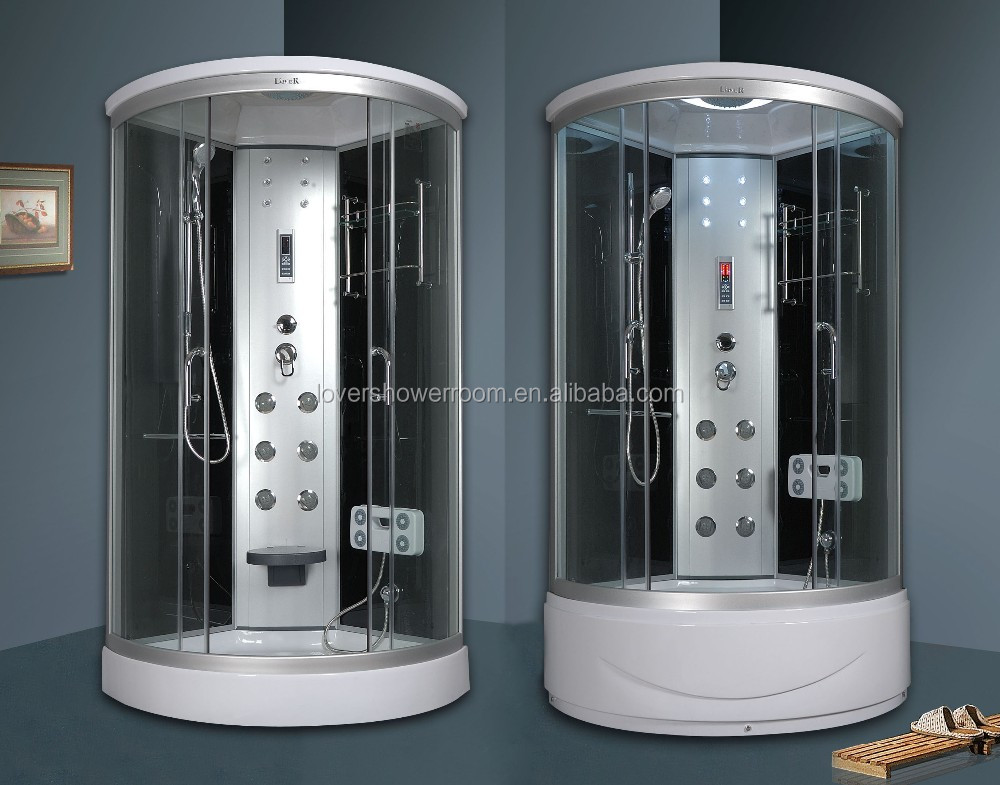 High Tray Massage Shower Room 90 With CE Deep Tray Steam Shower Cabin 100