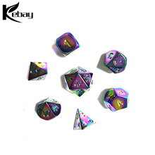 Custom newest metal foam colorized dice set for adult dice games
