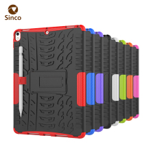 Shockproof TPU and PC backside cover heavy duty rugged armor 10.5 inch child proof tablet case for iPad pro