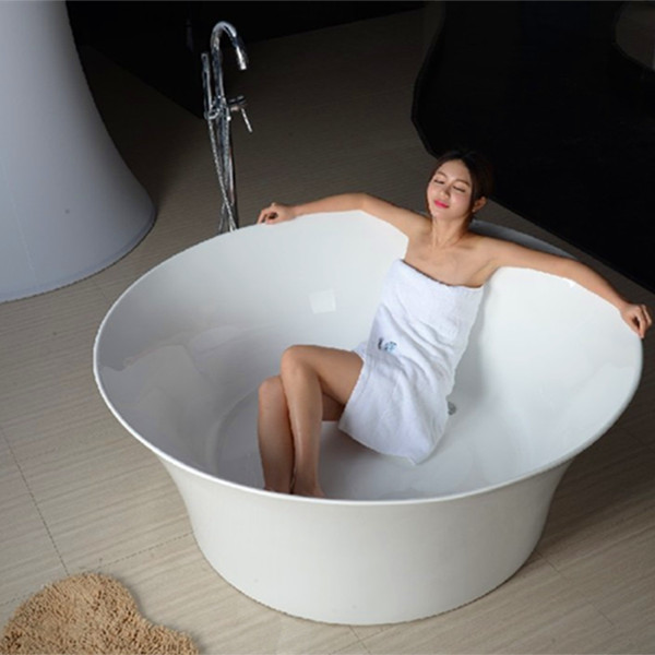 2016 small freestanding round bathtub soaking small round bathtub