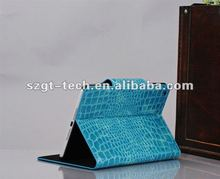 Folding Stand buckle Crocodile Leather Case For iPad Mini