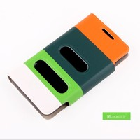 Good quality flip phone cover for samsung lcd display i9070 galaxy s advance stand window case