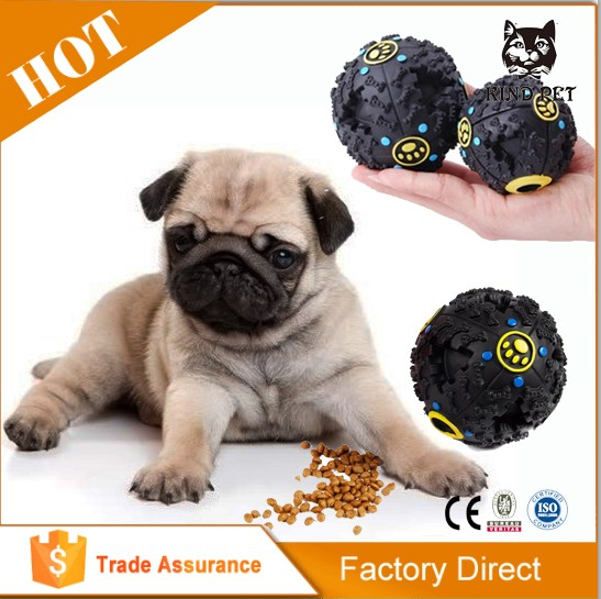 Big promotion pet treat/ rubber ball/dog toy