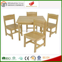wooden kids children table and chair set