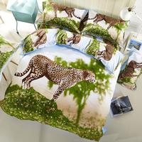 3D High definition printing Bedding set/Bed sheet/Quilt duvet cover/Yellow Leopard