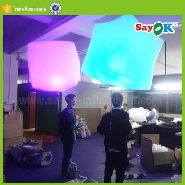 inflatable led lighting backpack advertising walking balloon with light