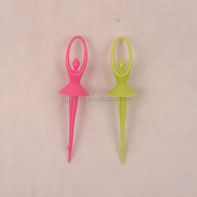 High quality dancer plastic fruit pick cocktail fruit picks