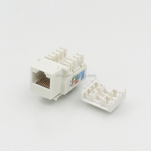White Yellow Blue Black AMP Module Connector UTP 90 Degree RJ45 CAT5E Keystone Jack