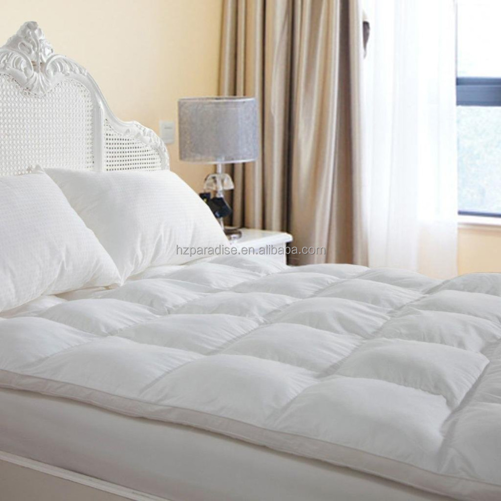 Hypoallergenic Down Alternative Fiber filling Hotel Quality Mattress Topper, - Jozy Mattress | Jozy.net