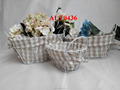 handmade wire mesh storage baskets for home decoration