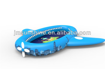 2014 new design airplane shape blue inflatable Swimming Pool for kid