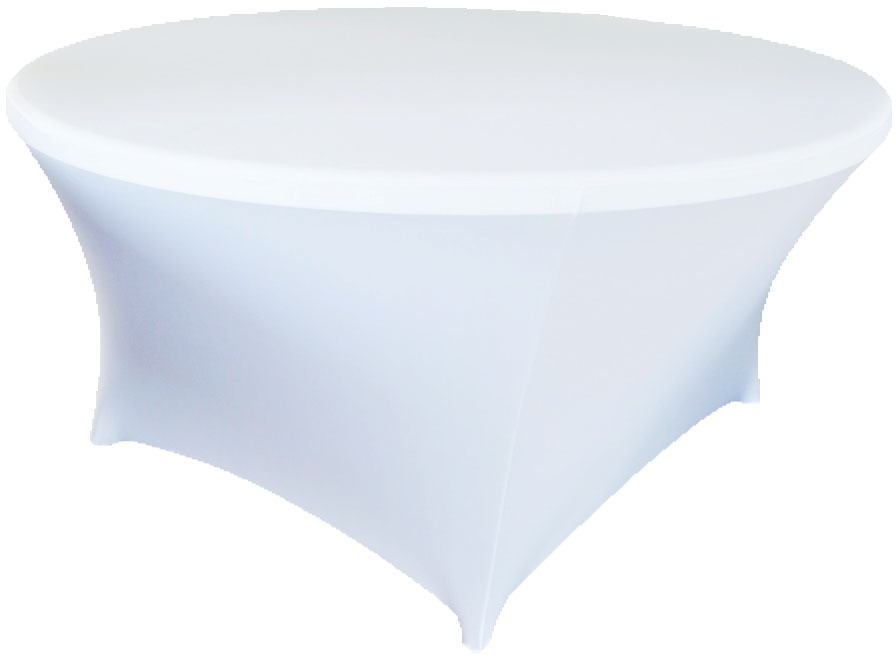 Buy Free Shipping 10pcs White 6ft Round Lycra Stretch Spandex Table